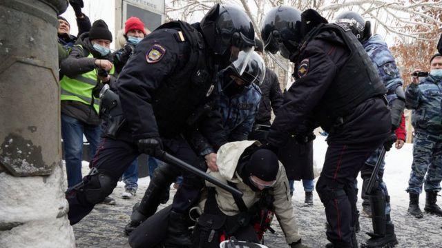 Акция протеста в январе
