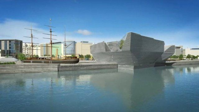 Computer-generated image of the new V&A Museum in Dundee