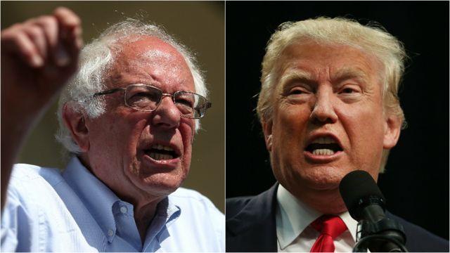 Bernie Sanders y Donald Trump