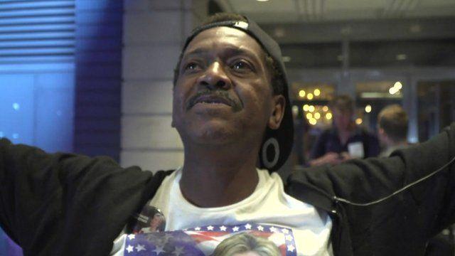 A voter in Harlem