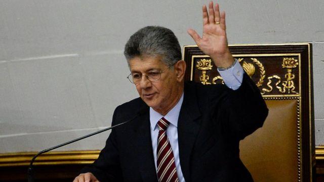 Henry Ramos Allup, presidente de la Asamblea Nacional de Venezuela.