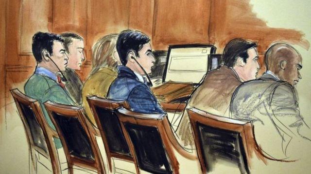 Franqui Francisco Flores de Freitas y Efraín Antonio Campo Flores en su juicio