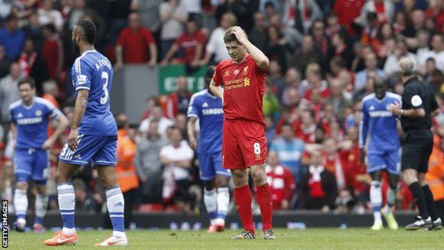 Steven Gerrard (centre)