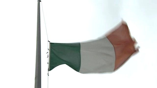 The national flag is being flown at half-mast at Irish government buildings as a mark of respect