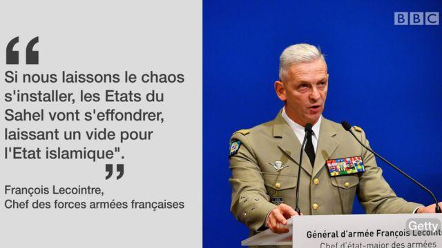 Le général Lecointre, chef d'Etat-major de l'armée française.