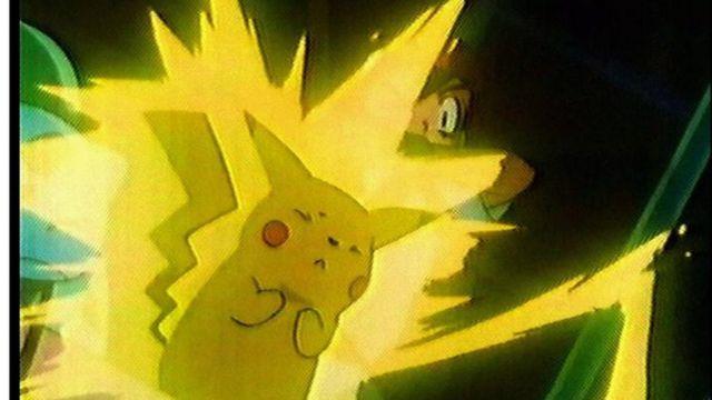 بوكيمون محاط بلون اصفر وامض