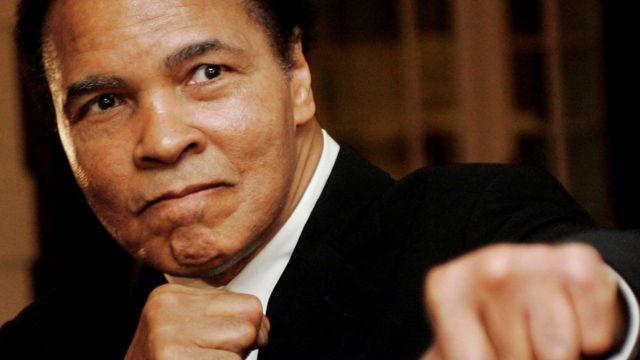 Muhammad Ali in Davos, Switzerland, in 2006