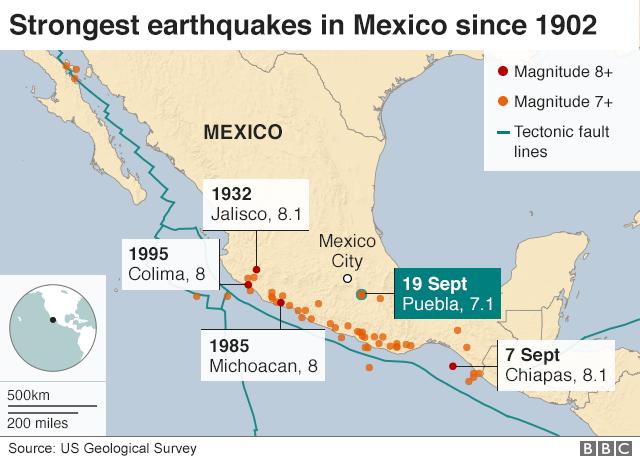 Mexico Quake A Visual Guide Bbc News
