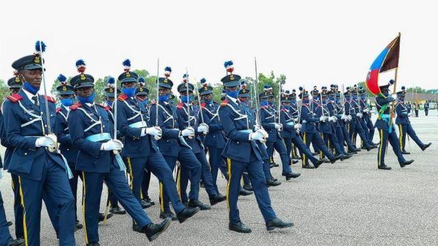 Officers dey parade