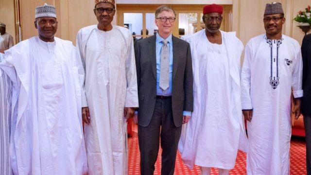 Aliko Dangote, Muhammadu Buhari, Bill Gates ati eeyan meji mii