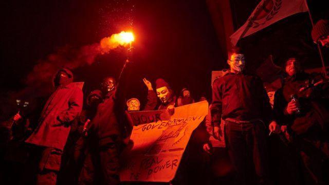 Protestas anticapitalistas en Londres, en noviembre de 2016.