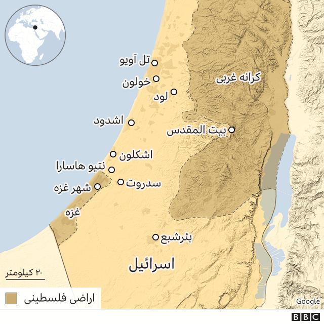 نقشه اسرائیل