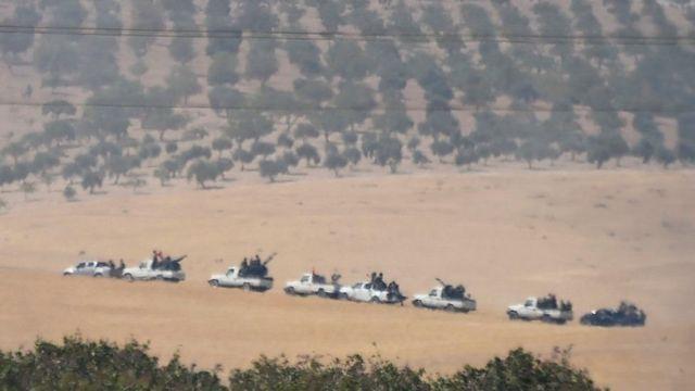Бойцы Свободной сирийской армии готовятся к наступлению на Джараблус