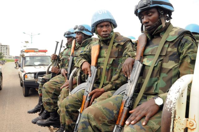 أفراد من قوة حفظ السلام