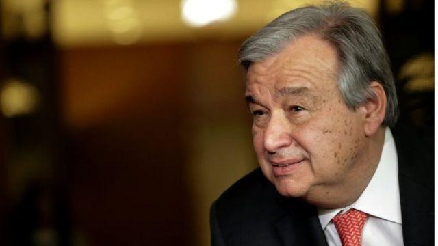 グテーレス氏は国連難民高等弁務官としてシリア、イラク、アフガニスタンでの危機に取り組んだ。写真は今年4月、国連本部で。