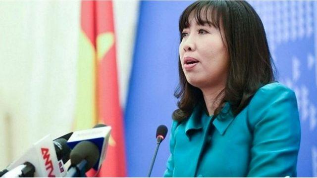 Phát ngôn viên Lê Thị Thu Hằng