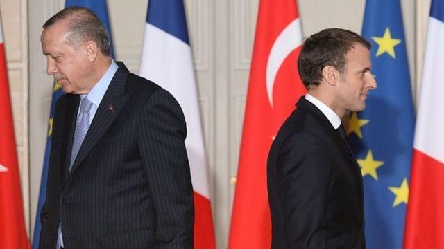 Erdogan iyo Macron ayaa isku khilaafay arrimo dhowr ah