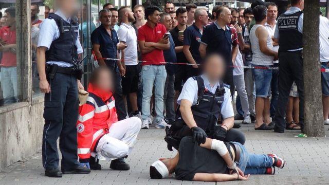 Полиция Ройтлингена арестовала нападавшего