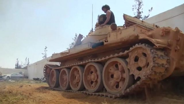 A tank in Libya.