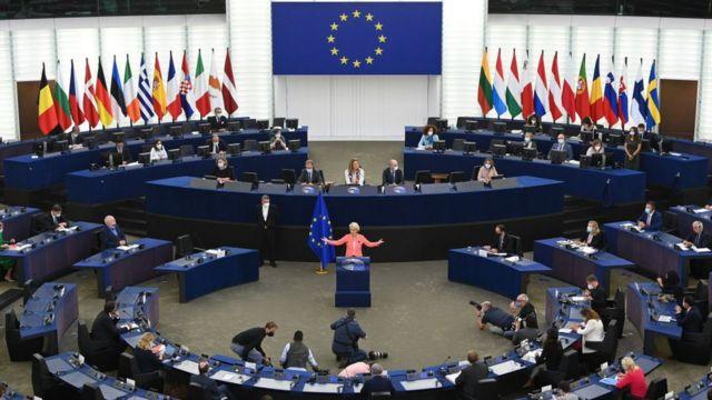 Avrupa Komisyonu Başkanı Ursula von der Leyen, her yıl düzenlenen 'Birliğin Durumu' konuşmasını Strazburg'da yaptı.