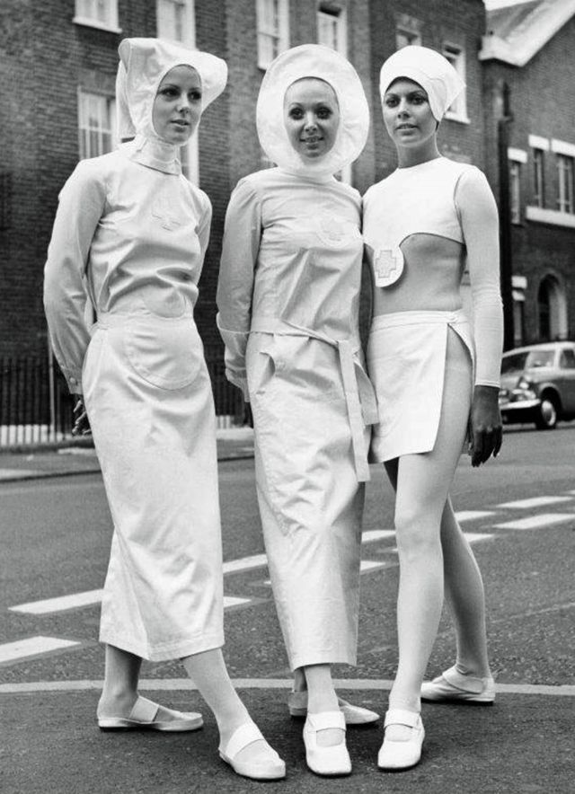 Pierre Cardin nurses' designs