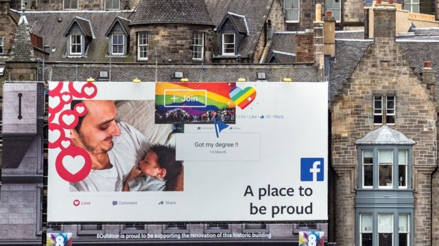 Реклама Facebook в Эдинбурге.