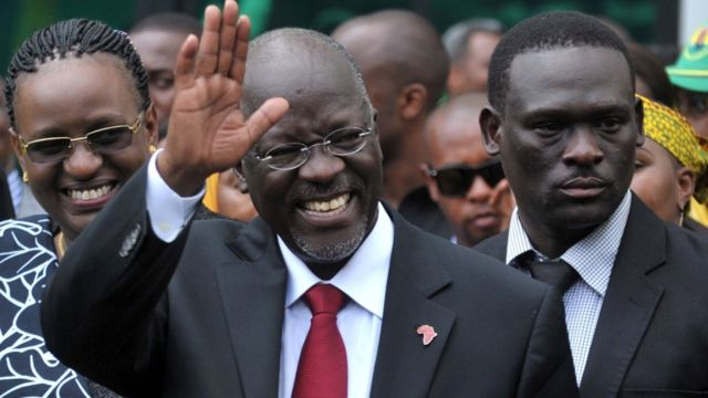 John Pombe Magufuli after being elected president (October 30, 2015)