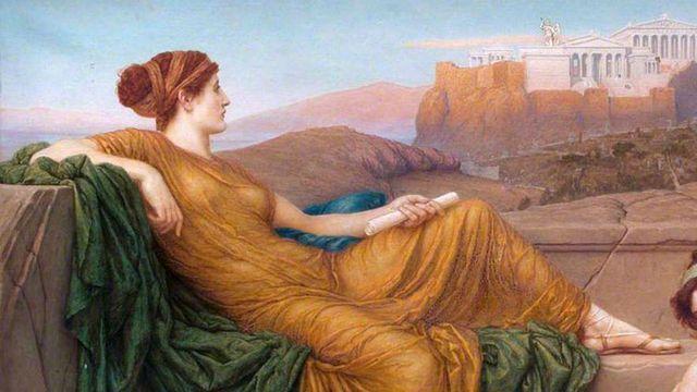 'Aspásia no Pnyx', obra de Henry Holiday, 1888