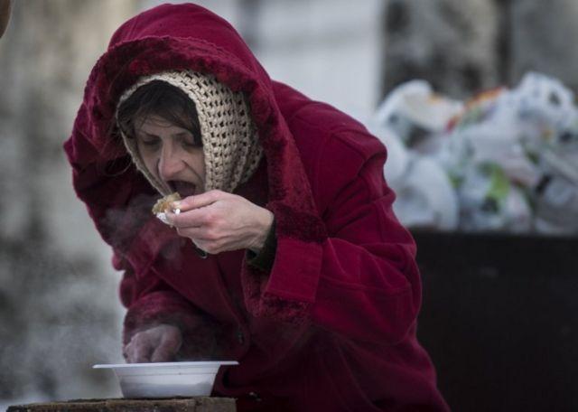 Mujer en Avdiivka