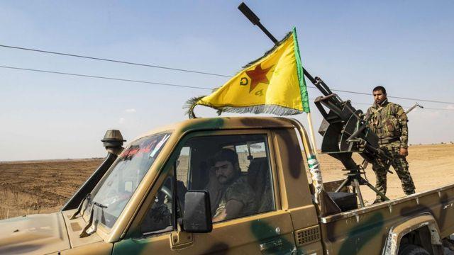 نیروهای یگانهای مدافع خلق در شمال سوریه