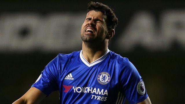 Diego Costa (Chelsea), l'un des meilleurs buteurs de la Premier League cette saison avec 14 réalisations est la cible de plusieurs club chinois (archives)