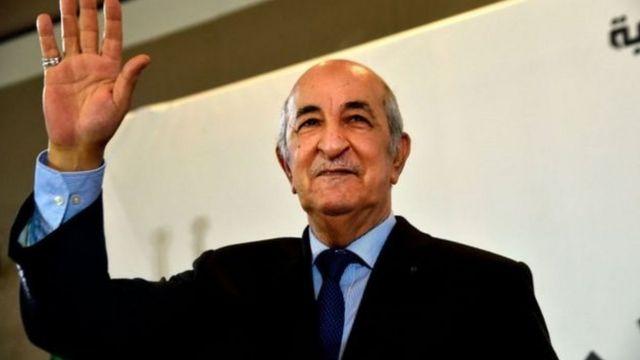 الرئيس الجزائري الجديد عبد المجيد تبون