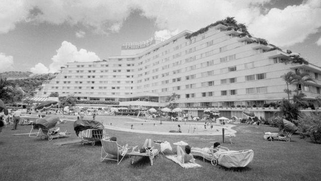 El Hotel Tamanaco cerca de 1955.