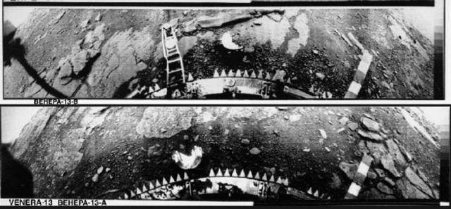کاوشگرهای شوروی بعد از فرود روی زهره تنها توانستند چند عکس ارسال کنند
