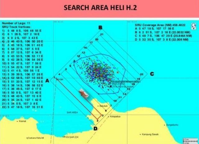 Nhà chức trách Indonesia công bố bản đồ kỹ thuật khoanh vùng tìm kiếm