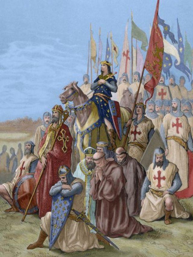 بادشاہ لوئی کی سربراہی میں ساتویں صلیبی فوج جو مصر کے بعد یروشلم فتح کرنا چاہتی تھی