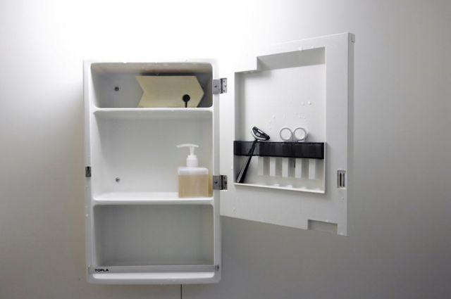 El gabinete del baño del minimalista Fumio Sasaki