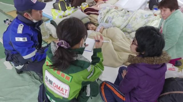 Japan earthquake evacuation centre