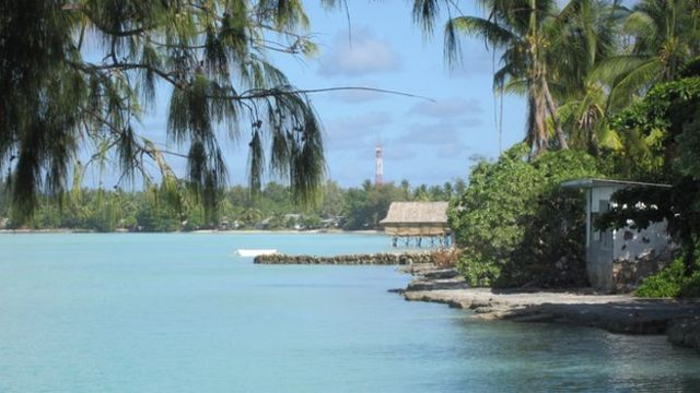 The stereotypical image of Kiribati is of classic pacific atolls, palm trees and coral reefs