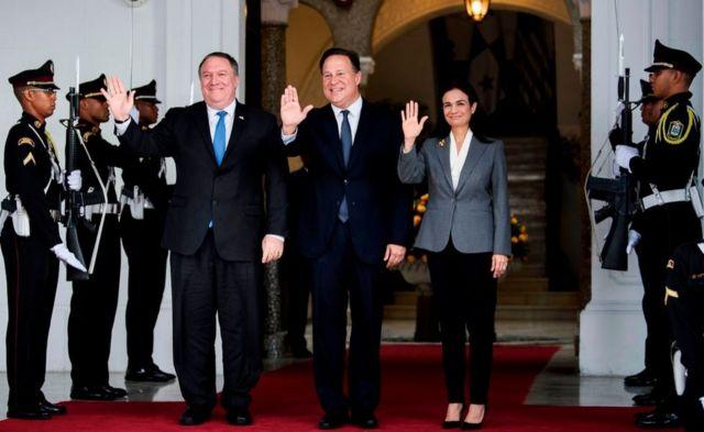 Pompeo en su visita a Panamá.