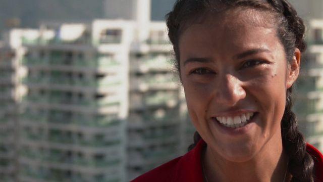 Triathlete Fabienne St Louis