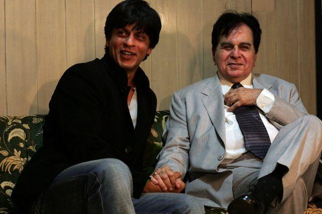 Shahrukh Khan and Dilip Kumar