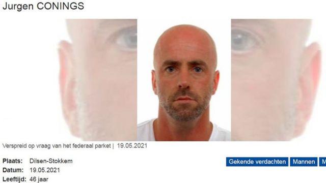 Alerta da polícia belga sobre Jurgen Conings