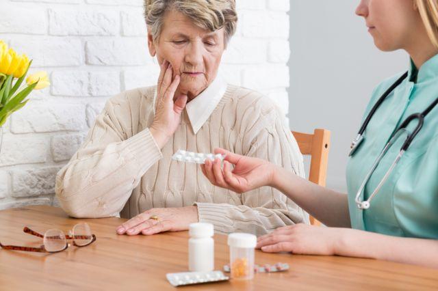 Woman with a nurse