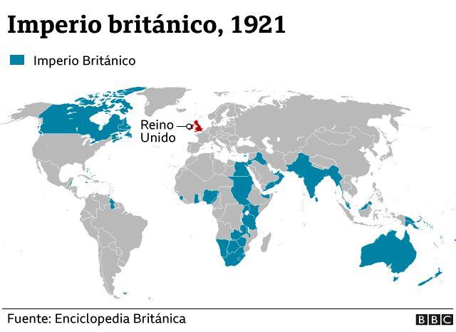 Imperio británico en 1921.