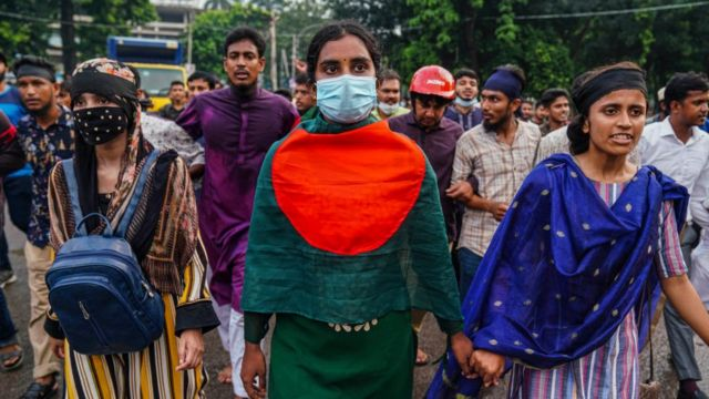 Manifestación en Bangladesh.