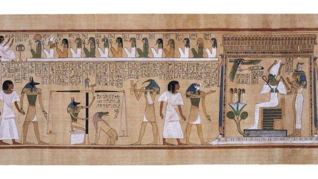 """Иллюстрация из древнеегипетской """"Книги мертвых"""""""