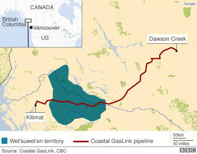 Map of the territory and pipeline dispute