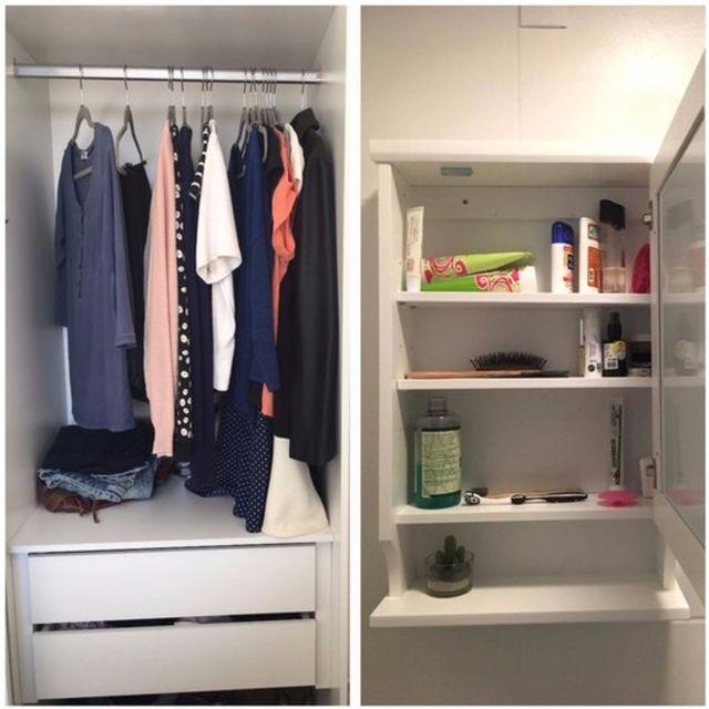 Guarda-roupa e armário de Isabela