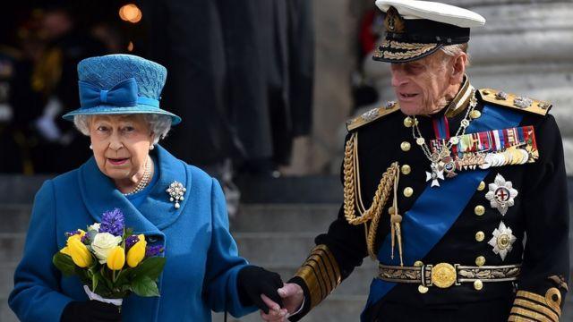 英國女王和愛丁堡公爵菲利普親王